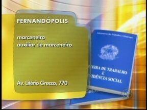 Veja as oportunidades de trabalho anunciadas no Bom Dia Cidade de Rio Preto, SP - As vagas são desta quarta-feira (8) para toda a região de São José do Rio Preto (SP). Oportunidade para quem quer trabalhar como operador de telemarketing ou auxiliar de produção.