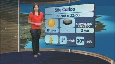 Confira a previsão do tempo para São Carlos e região nesta quarta-feira (8) - Confira a previsão do tempo para São Carlos e região nesta quarta-feira (8).