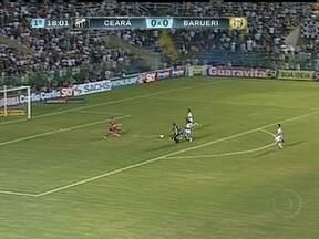 O giro de gols da 16ª rodada da Série B - Ceará fez 2 x 0 no Barueri enquanto ASA ganhou por 1 x 0 sobre o Guarani