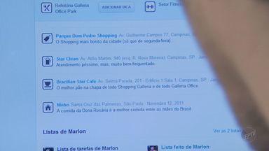 Exposição frequente nas redes sociais traz ricos para a segurança - A exposição frequente nas redes sociais, como a publicação de atualizações constante, traz riscos à segurança, como afirma um especialista em segurança de Campinas.