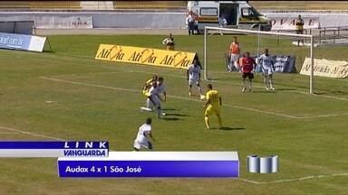 São José leva goleada na Copa Paulista - Águia do Vale perdeu por 4 a 1 para o Audax.