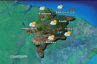 Confira a previsão do tempo para esta segunda-feira (20) no Maranhão - A presença de uma forte massa de ar seco impede a formação de nuvens nesta segunda-feira no Maranhão. Na região do litoral, o calor e a umidade que vem do oceano formam algumas nuvens e ocorrem pancadas de chuva rápidas no decorrer do dia.