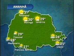 Terça-feira ensolarada e previsão de pancadas de chuva - Na fronteira, até sábado o tempo segue ensolarado e com temperaturas em elevação.