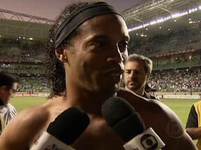 Atlético-MG supera as melhores marcas do Brasileirão - Ronaldinho Gaúcho chegou ao Atlético há menos de três meses e o time ganhou destaque. Mas ele não é o único a chamar atenção. O líder do Campeonato Brasileiro tem encantado pela atuação de todo o grupo, principalmente nos jogos em casa.