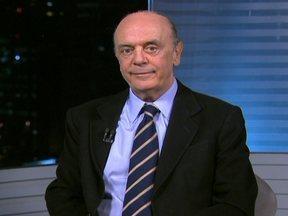 José Serra concede entrevista ao SPTV - O candidato do PSDB à prefeitura de São Paulo fala de seus projetos caso seja eleito. A ordem das entrevistas foi definida por sorteio.