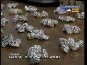 Oeste do estado está na rota do tráfico internacional de drogas - Neste mês, foram apreendidos quase dois quilos de crack.