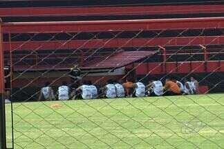 Criciúma faz treino com portões fechados em Goiânia - Tigre enfrenta o Goiás nesta terça-feira com os desfalques de Zé Carlos e Lucca.