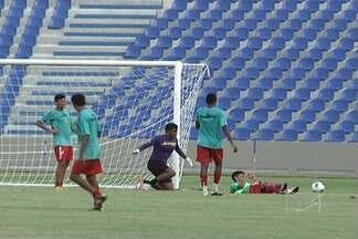 Sampaio faz o segundo treino no Castelão - Tricolor fez o reconhecimento do Estádio, onde vai encarar o Vilhena na quarta-feira