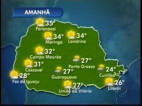Previsão de chuvas fracas amanhã na região - Sol aparece ao longo do dia e esquenta