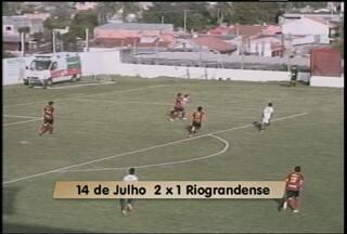 Riograndense perde para o 14 de julho - Partida foi no fim de semana em Santana do Livramento
