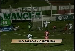 Inter-SM perde mais uma na Copa Hélio Dourado - Colorado foi goleado por 4 a 0 pelo São Paulo de Rio Grande