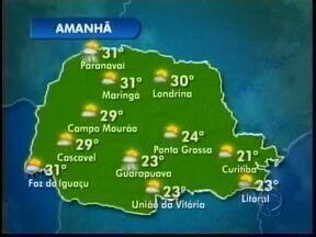 O domingo amanhece gelado nos Campos Gerais - Durante o dia esquenta um pouco mas pode chover a qualquer momento em Ponta Grossa.