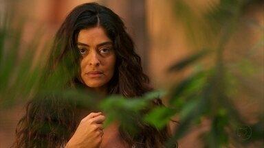 Gabriela vê Nacib chegar de manhã em casa - Enquanto isso, no Bataclã, Zarolha se lamenta com Machadão por achar que fez mal ao homem que ama. Nacib confessa a João que tem vergonha de trabalhar e pensa em sair de Ilhéus