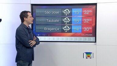Veja como fica o tempo nas cidades da região - Números são do Cptec/Inpe de Cachoeira Paulista.