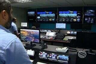 Tejornais da TV Sergipe ficam ainda mais modernos - Tejornais da TV Sergipe ficam ainda mais modernos. Foram realizados investimentos em cenários e tecnologia.