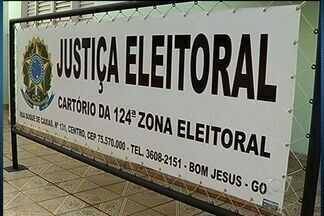 Candidaturas indeferidas podem gerar novas eleições em Bom Jesus de GO - Cidade tem dois candidatos, mas nenhum dos quase 13 mil votos foi validado. Se impugnação for mantida pelo TSE, município poderá ter novas eleições.