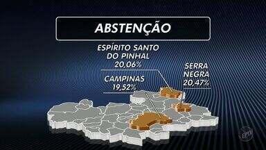 Levantamento mostra cidades com maior índice de abstenção nas eleições da região - Um levantamento realizado em 249 cidades da região de Campinas (SP) e Piracicaba (SP) mostra quais cidades tiveram o maior número de abstenção nas eleições do dia 7 de outubro.