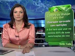 Compra da Webjet pela Gol é aprovada com restrições - A operação foi realizada em 2011, mas só agora o Cade reconheceu a fusão. A Gol terá que comprovar eficiência, garantindo no mínimo 85% das autorizações de pouso e decolagem a que tem direito no Aeroporto Santos Dumont.