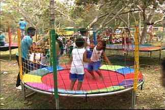 Comemorações do Dia das Crianças já animam pequenos no ES - Recreações seguem durante toda a quinta-feira (11), na Reserva da Vale.