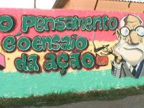 Parceiros do DF mostram grupo que faz grafite em Santa Maria - O movimento se fortalece cada vez mais na cidade. A ideia dos grafiteiros é dar cor à cidade.
