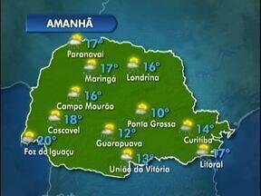 Previsão de chuva para terça-feira - Nos Campos Gerais deve chover no início da noite e na quarta-feira volta a fazer sol