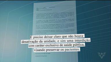 Hospital de Peruíbe não recebe mais pacientes - Doentes internados estão sendo transferidos para outros hospitais.
