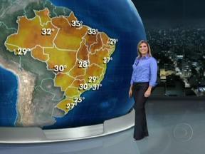 Previsão é de risco de temporais em parte do Sul e do Centro-Oeste do Brasil - Os volumes de chuva mais altos são esperados para Mato Grosso do Sul, onde madrugada pode haver tempestade na madrugada. Na terça, também pode chover forte no oeste de São Paulo, no Triângulo Mineiro e em grande parte da Região Norte.