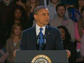 Barack Obama é reeleito nos EUA e promete que o melhor ainda está por vir - O presidente ficará mais quatro anos na Casa Branca. Em seu discurso, Obama elogiou o adversário Mitt Romney e disse que vai trabalhar com ele. Ele também prometeu que vai procurar a oposição para fazer o que é melhor para o país.