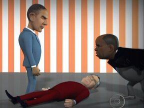 Charge do Chico mostra jogo rápido com o STF - Chico Caruso brinca com fatos atuais como eleições americanas e julgamento do mensalão.