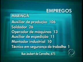 Veja as oportunidades de emprego em Maringá e região - Há vagas para técnico em segurança do trabalho, operador de empilhadeira e de máquinas