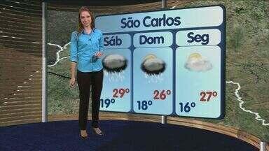 Confira a previsão do tempo para São Carlos e região neste sábado (24) - Confira a previsão do tempo para São Carlos e região neste sábado (24).