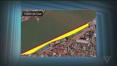 Obra no Porto de Santos vai permitir que cais de Outerinhos receba o dobro de navios. - Passageiros de navios de cruzeiros também serão beneficiados com as mudanças.