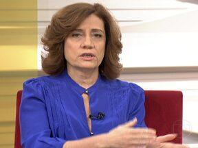 Miriam Leitão comenta sobre apoio brasileiro ao governo chavista - Para Miriam Leitão, o Brasil apoia qualquer atitude da Venezuela que se chame de democrático mas, olhando para o Mercosul, o país trata o Paraguai de maneira diferenciada.