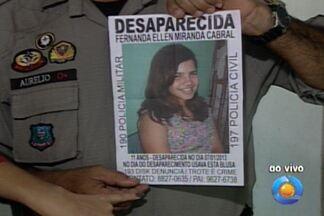 Menina de 11 anos continua desaparecida - A menina Fernanda Hellen desapareceu há 3 dias.