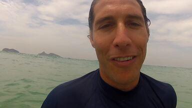 Flávio Canto e Gabriel Medina convidam para o Corujão do Esporte - Apresentador e surfista pegaram onda essa semana e estarão presentes no programa na madrugada de sexta para sábado.