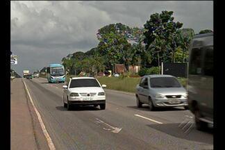 Imprudência de pedestres e motoristas provoca acidentes na rodovia BR-316 - Equipamentos de controle de velocidade foram instalados ao longo da rodovia.
