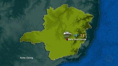 Zona de convergência de umidade que atua sobre Minas deixa quinta chuvosa - No Norte, Leste, Zona da Mata e Nordeste o tempo fica nublado com chuva.
