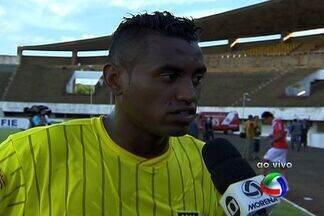 Keverson, do Cene, faz gol e dedica à família - Atacante entrou no segundo tempo e deixou sua marca na goleada de 5 a 0 do Cene sobre o Comercial-MS