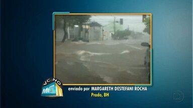 Internautas registram imagens da chuva deste domingo em Belo Horizonte - Os telespectadores enviaram as imagens para o VC no MGTV.