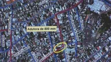 Laudo revela interrupções de água por problemas de adutora em Manaus - Laudo realizado pela Arsam mostra a quantidade de interrupções no fornecimento de água por causa de adutoras que romperam em 2012.
