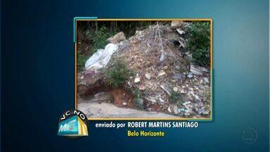 Telespectador reclama de entulhos na porta de casa em Belo Horizonte - Veja outros flagrantes de telespectadores no VC no MGTV.