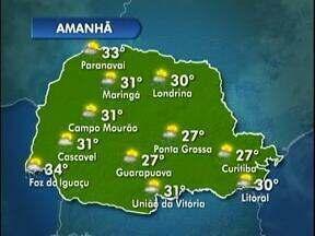 Temperaturas altas nos próximos dias em Londrina - Veja a previsão do tempo no mapa.
