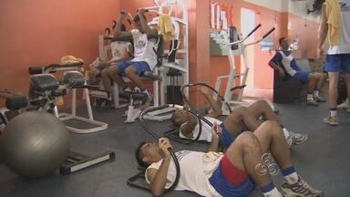 Jogadores do São Raimundo se preparam para Campeonato Amazonense - Faltando 15 dias para a estreia no Campeonato Amazonense, o São Raimundo não diminui o ritmo. A busca é do melhor condicionamento físico.