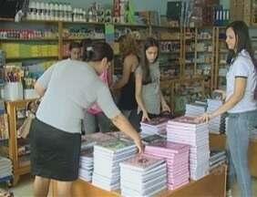Com a proximidade da volta às aulas, o movimento nas papelarias aumentou em Vilhena - A expectativa é de crescimento de 30% nas vendas.