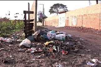 No Cohabiano, em São José de Ribamar, a coleta de lixo é precária - Na rua II o depósito de lixo da prefeitura está transbordando. Um problema para população.