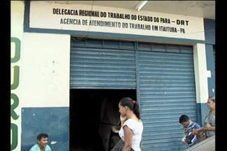 Trabalhadores de Itaituba reclamam de demora para conseguir seguro-desemprego - Problemas na infraestrutura do prédio da Delegacia do Trabalho estariam dificultando acesso ao sistema.