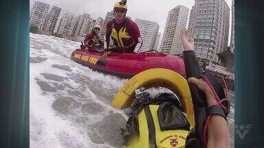 Cerca de 500 pessoas foram salvas pelos bombeiros nas praias da Baixada Santista - Sete mortes foram registradas