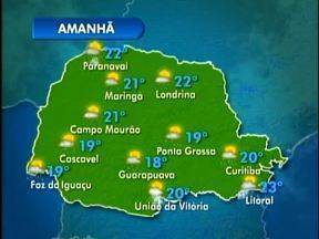 O domingo vai ter sol e pancadas de chuva em Curitiba - Na capital a máxima em 27 graus e nas praias chega a 32 graus.