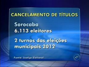Sorocaba, SP, tem mais de 6 mil eleitores em situação irregular - Os eleitores que não votaram nas últimas eleições têm até o dia 25 de abril para acertar as contas com a Justiça. Quem não comparecer, pode perder o documento. Em Sorocaba (SP), são 6.113 eleitores nessa situação.