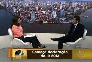 Começa hoje (01) a declaração do Imposto de Renda 2013 - Segundo a Receita Federal, estima-se arrecadar mais de R$26 milhões com as declarações em todo o Brasil. Supervisor da RF em Sergipe fala das mudança no processo este ano.